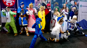 Smash Bros cosplay group at Avcon 2014 by AussieYoshi