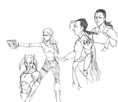 character sketches by SoDrawnOut