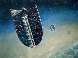 The Floating Cities by Art-deWhill
