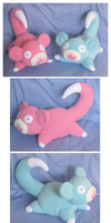 Slowpoke Plushies by Fox7XD