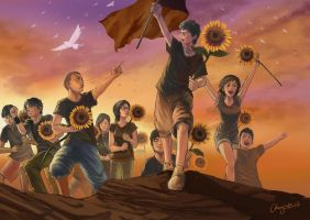 Sunflower Movement by WandererLink