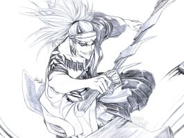 Abarai Renji Sketch by Washu-M