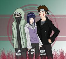 Shino, Hinata, Kiba by darkwings9