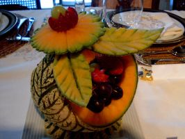 Cantaloupe Fruit Basket 1 by Sliceofcake