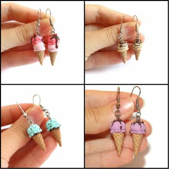 Delichious Ice Creams - Handmade Earrings by Maca-mau