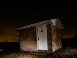 Shed at Night by VividThorn