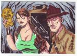 Indy and Croft by LanceSawyer