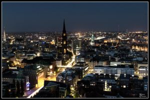 Hamburg at Night 2008 I by W0LLE