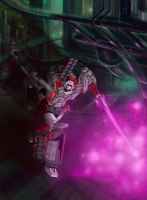 Megatron colors and Background by CaroRichard