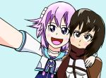 Neptune and Mikasa selfie by televideoDMB