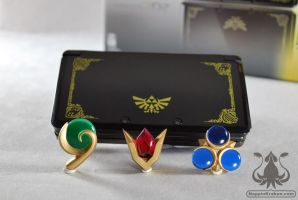Legend of Zelda OOT 3DS Spiritual Stone Set by NappinKraken