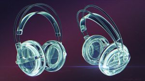 Crystal Headphones by Fabler-3Dworks
