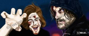 Sarazar und Gronkh - Let's Play Walking Dead by nette2301