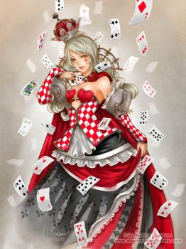 Queen of cards by bluemonika