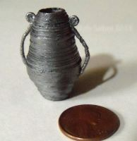 Dollhouse Miniature NeoClassical Vase by Kyle-Lefort