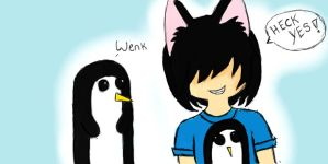 Penguin sledding. by Josh-The-WereVampire