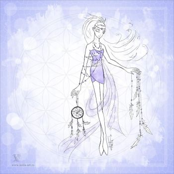 Flower of life : Air by Keila-the-fawncat