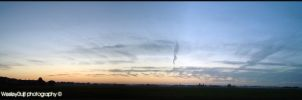 Panorma sunset by WesleyGuijt