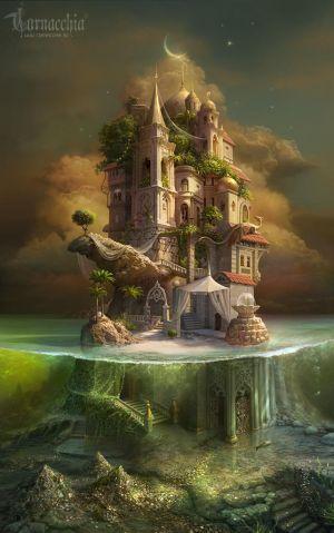 Kidnapped princesses island by cornacchia-art