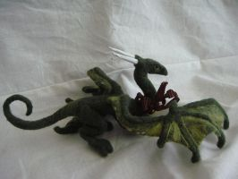Big Needlefelted Dragon 3 by Projectsubvert