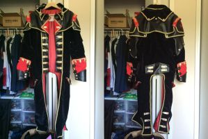 Assassin's Creed Rogue Shay Cormac coat front/back by TimeyWimey-007