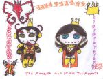 The Monarch and Dr Mrs The Monarch Rag Dolls by AgentofMischief