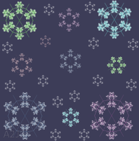 MISC. COLOR SNOWFLAKE BRUSHES by a2j3