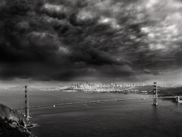 clouds over the Golden Gate by VaggelisFragiadakis
