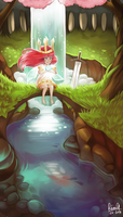 Child of Light : Secret place by acetea-san