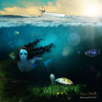 Mermaid under the sea by cherie-stenson
