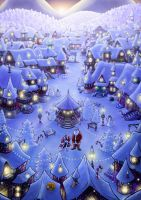 Christmas town by Mr-PiaPia