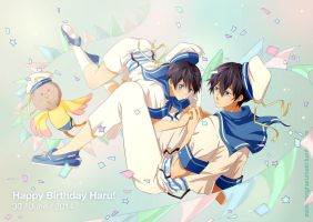 Free! Happy  Bday Haru! by andys