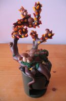 Fimo Autumn Bonsai by FunkadelicPsychoFish