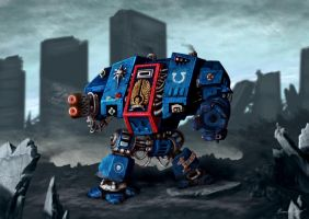 Warhammer Space Marine Dreadnought by BrianJMurphy