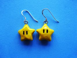 Super Mario Star Earrings by mAd-ArIsToCrAt