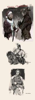 Napoleonic Wars fan arts and Merry Christmas! by luulala