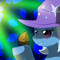 Trixie in the Sky with PineCones by AaronMk