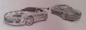 Old one: Toyota Supra 'n A.M. Rapide by pro-heaven
