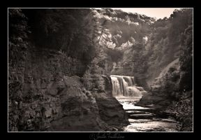 Distant Waterfalls by FallesenPhotography