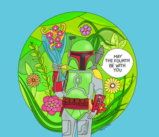 Boba Fett Star Wars Day Card! by mahiyanacarudla
