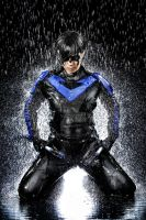 Cosplay water shooting: Nightwing (7) by Tenraii