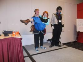Otakuthon 2014- Kristoff and Anna by CelineDGD