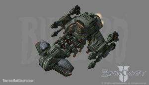 Starcraft 2: Battlecruiser by PhillGonzo