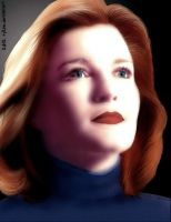 (Young?) Kathryn Janeway by rykoe