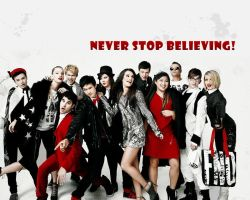 Vogue Glee Cast Wallpaper by Himmelsblau