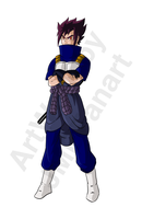 Sageta (Vegeta and Sasuke Fusion) (Old Version) by JMBfanart