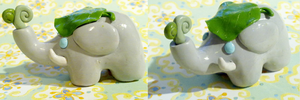 Polymer Clay : Elephant by CraftCandies