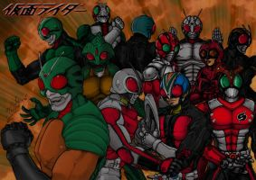 Kamen Riders Forever and Ever by Dante424325