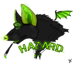 Hazardous Waste - Badge for SpiffyInu- by URs4NiN3Z
