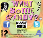 WANT SOME CANDY font by Kiddiefonts